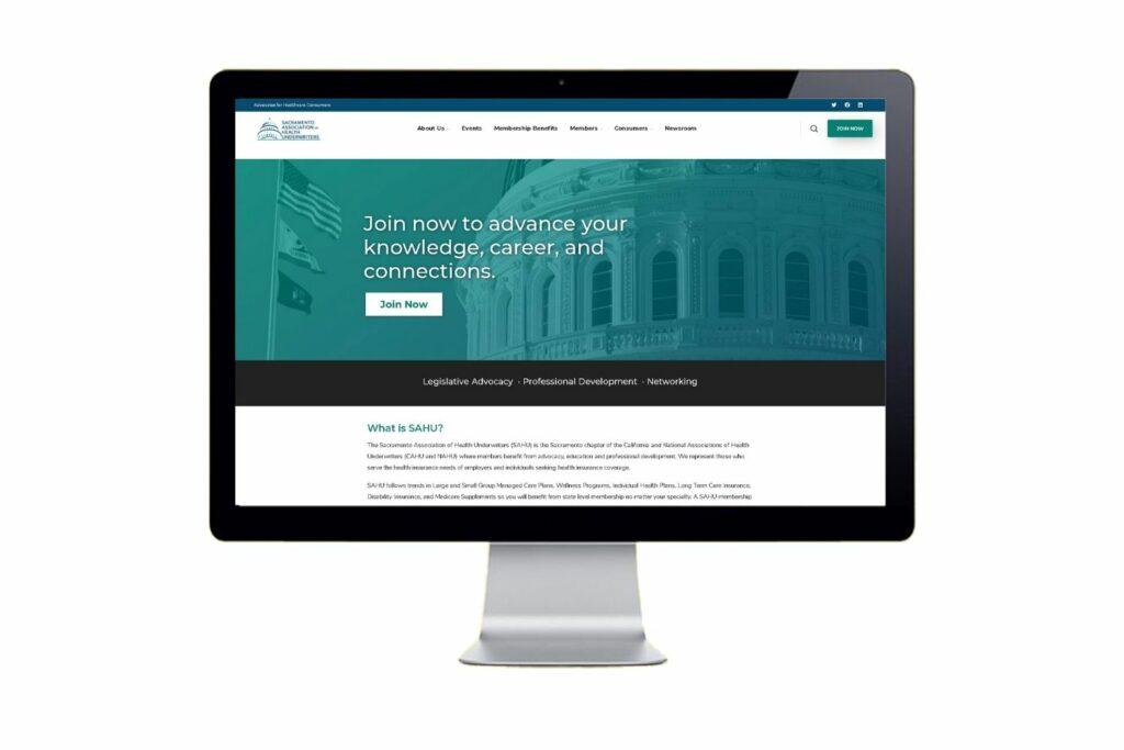 SAHU website homepage